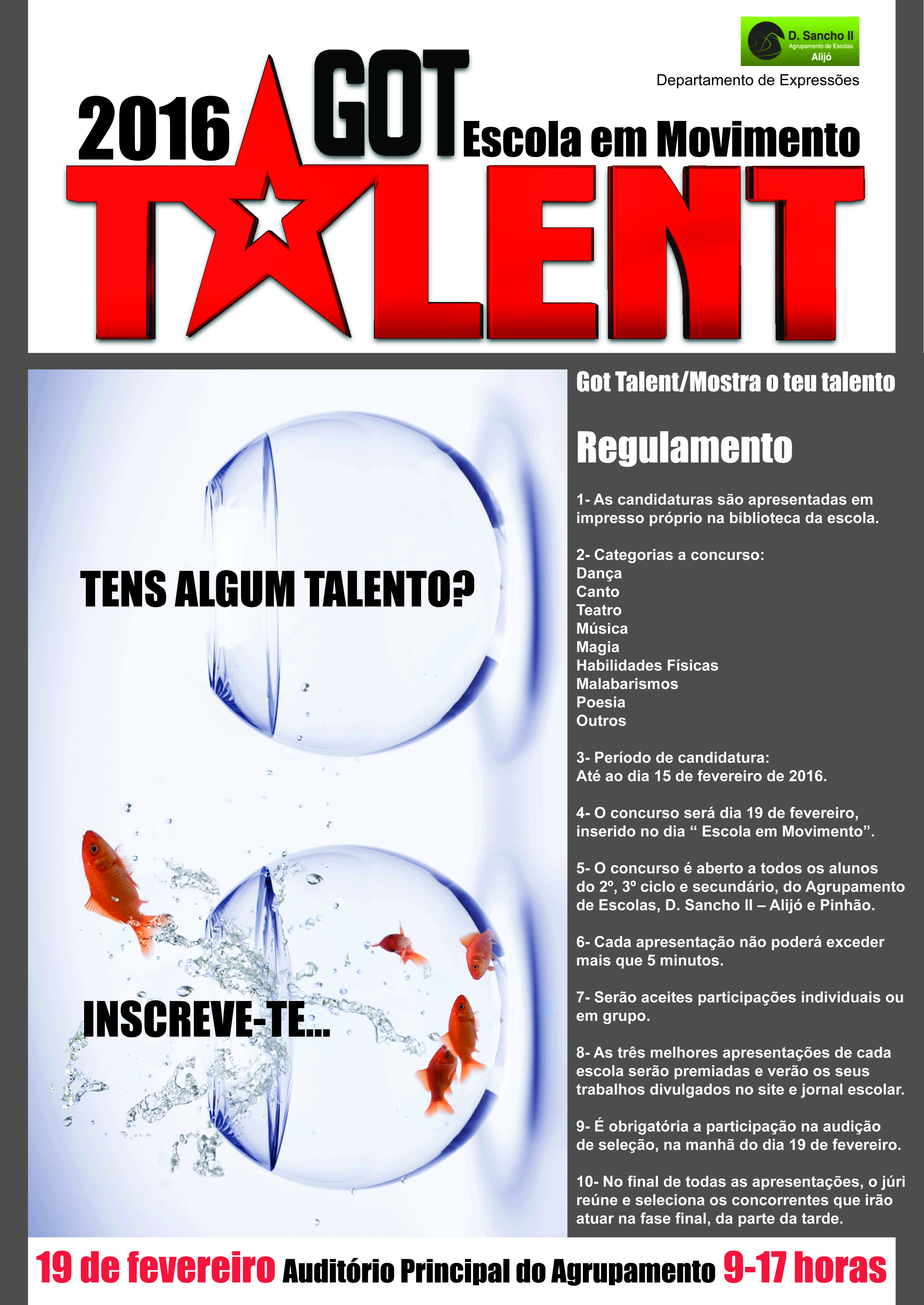 cartaz - got talent 2016